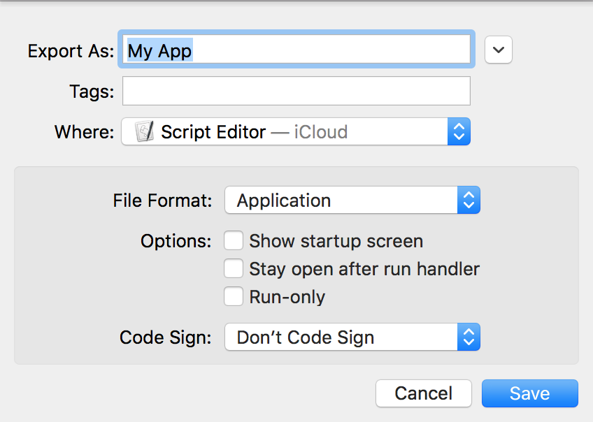 How to Change the Icon of an Apple Script Application